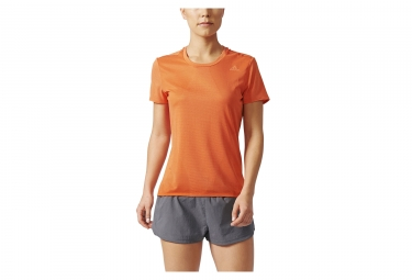 maillot manches courtes femme adidas running supernova orange s