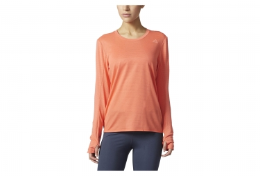 maillot manches longues femme adidas running supernova orange xs
