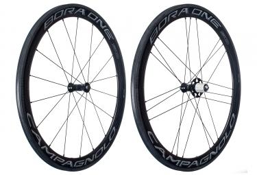 paire de roues campagnolo bora one 50 dark 2018 a boyaux shimano sram 11v