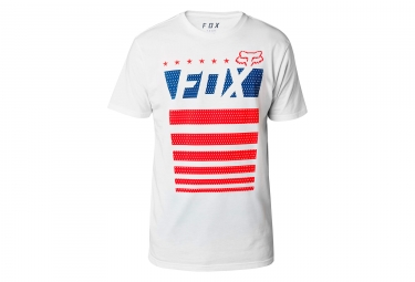 t shirt technique fox red white true blanc xl