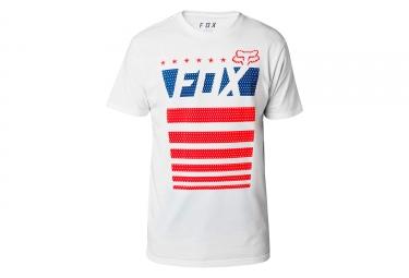 t shirt technique fox red white true blanc xl