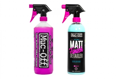 kit nettoyage muc off bike cleaner 1l matt finish 750ml