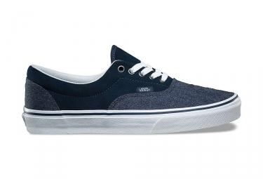 Chaussures vans daim era bleu blanc 42