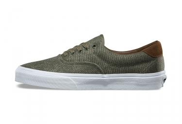 Chaussures Vans Era 59 CL Kaki Blanc