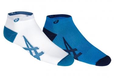 x2 Paires de Chaussettes Asics Lightweight Bleu