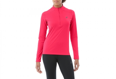 Maillot Manches Longues 1/2 Zip Femme Asics Top Rose