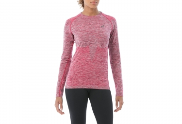 maillot manches longues femme asics seamless rose m