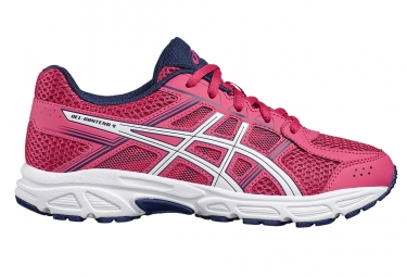asics gel contend 4 gs rose blanc enfant 33 1 2