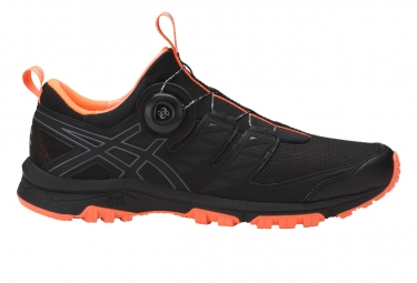 asics gel fujirado noir orange 44 1 2