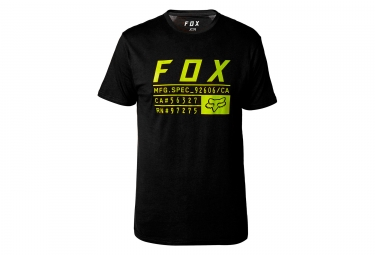 t shirt technique fox abyssmal noir m
