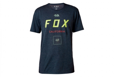 t shirt technique fox growled bleu fonce s