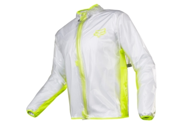 veste impermeable fox fluid mx jaune s
