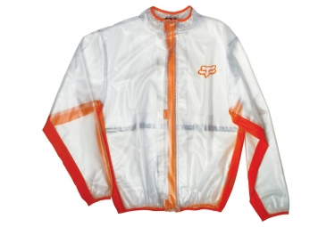 veste impermeable fox fluid mx orange l