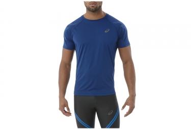 maillot manches courtes asics stripe bleu m