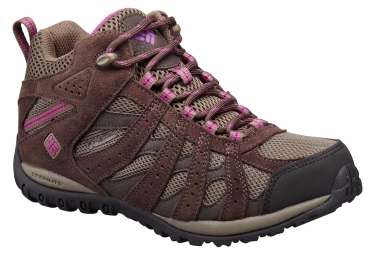 Chaussures impermeable columbia redmond mid marron violet femme 39