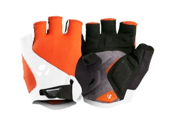 Bontrager gants race gel orange blanc s
