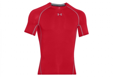 Maillot de compression under armour heatgear rouge m
