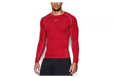 Camiseta de manga larga Under Armour Heatgear Compression roja