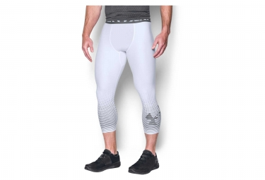 Under Armour Heatgear Armor Graphic 3/4 Collant Bianco