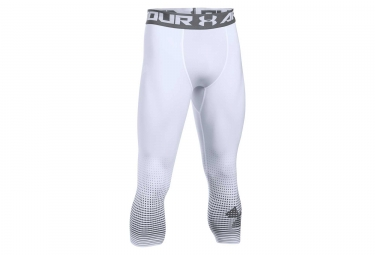 Collant 3/4 de Compression Under Armour Heatgear Armour Graphic Blanc