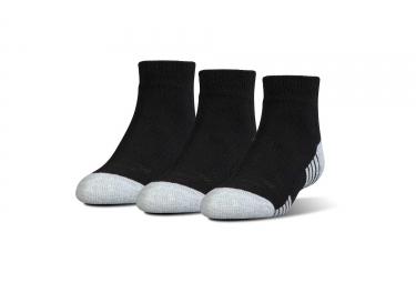 3 paires de chaussettes enfant under armour heatgear tech noir 24 29