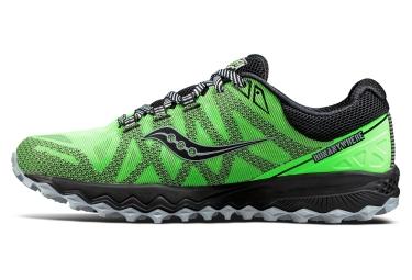 Chaussures de Running Saucony Peregrine 7 Noir / Vert