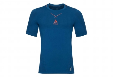 t shirt odlo smart ceramicool seamless bleu orange xl