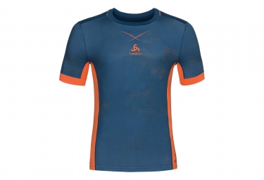 maillot odlo smart ceramicool imprime bleu orange m