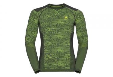 maillot manches longues odlo blackcomb evolution vert l
