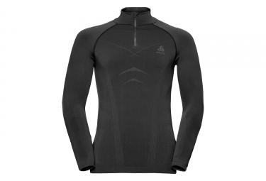 Sous maillot hiver odlo evolution warm 1 2 zip noir gris xl