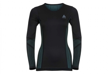 ODLO Performan Long Sleeve T-Shirt Woman Black Blue