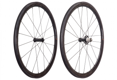 paire de roues fulcrum speed 40c dark carbone a pneu shimano sram
