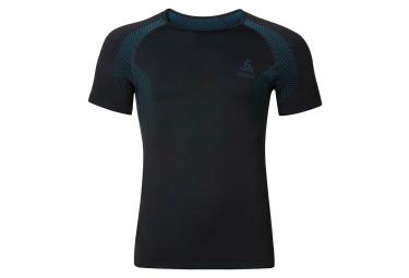 Sous maillot manches courtes odlo essentials seamless noir bleu s