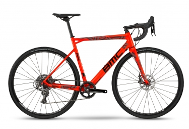 velo de cyclocross bmc 2018 crossmachine cx01 two sram rival 1 rouge noir gris 54 cm 172 180 cm