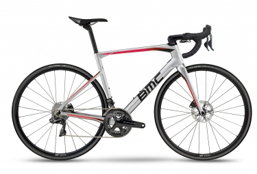 Velo de route bmc roadmachine 01 ltd shimano dura ace di2 11v chrome noir rouge 47 c