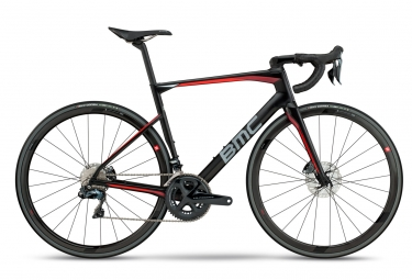 Velo de route bmc 2018 roadmachine 01 three shimano ultegra di2 11v noir blanc rouge