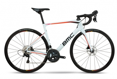 velo de route bmc 2018 roadmachine 02 three shimano 105 11v blanc noir orange 51 cm
