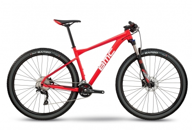 vtt semi rigide bmc 2018 teamelite 03 three shimano deore 10v rouge blanc l 180 190