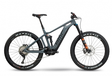 vtt electrique bmc 2018 trailfox amp two shimano xt 11v shimano stps e 8000 gris orange l 180 190 cm