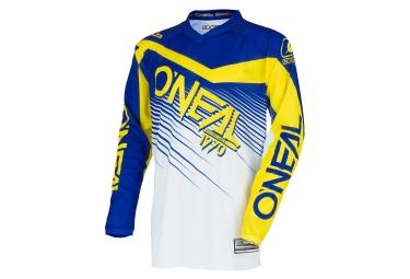 Maillot manches longues oneal element racewear jaune bleu xl
