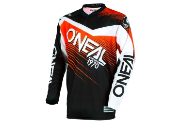 maillot manches longues oneal element racewear noir orange s