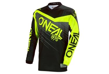 maillot manches longues oneal element racewear noir jaune fluo xl
