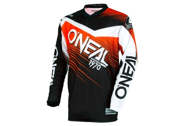 Maillot manches longues enfant oneal element racewear noir orange kid s