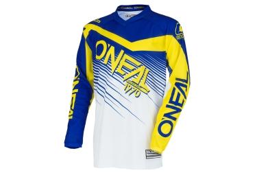 maillot manches longues enfant oneal element racewear jaune bleu kid xl