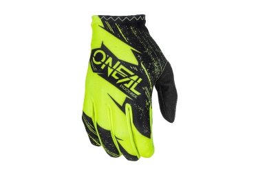Gants Longs Oneal Matrix Burnout Jaune Fluo Noir