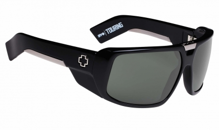 Lunettes spy touring black happy gray green