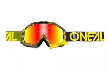 Oneal B-10 Pixel Goggle Black Khaki Frame Iridium Yellow Lens