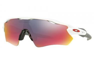 lunettes oakley radar ev path blanc rouge iridium ref oo9208 18