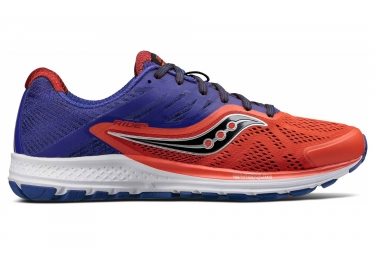 saucony ride 10 orange bleu 44