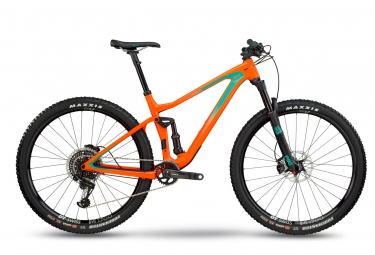 Vtt tout suspendu bmc 2018 speedfox 02 one 29 sram x01 eagle 12v orange vert l 180 1